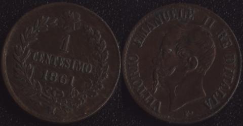 Италия 1 чентезимо 1861