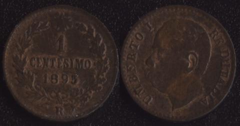Италия 1 чентезимо 1895