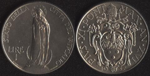 Ватикан 1 лира 1937