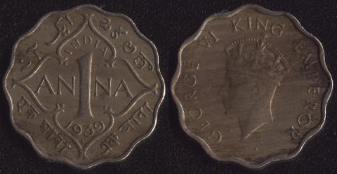 Индия Британская 1 анна 1939