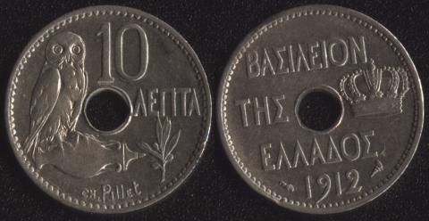 Греция 10 лепта 1912