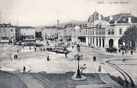 Ницца. Площадь Массена. Фотография начала XX века.