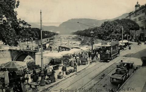 Ницца. Бульвар Мак-Маон. Фотография начала XX века.