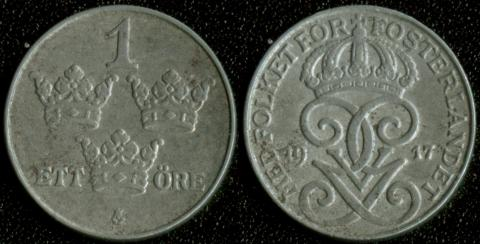 Швеция 1 оре 1917