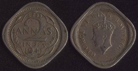 Индия Британская 2 анны 1941