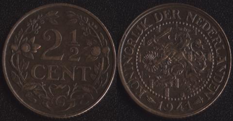 Нидерланды 2,5 центов 1941