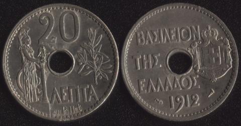 Греция 20 лепта 1912