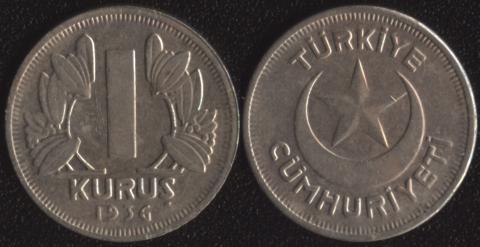 Турция 1 куруш 1936
