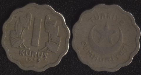 Турция 1 куруш 1939
