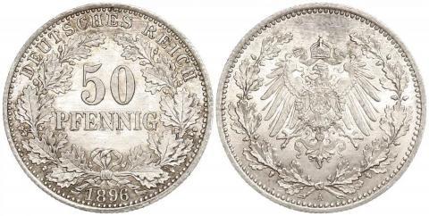 Германия 50 пфеннигов 1896