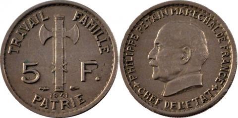 Франция 5 франков 1941