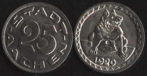 Аахен 25 пфеннигов 1920