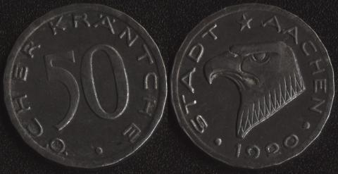 Аахен 50 пфеннигов 1920