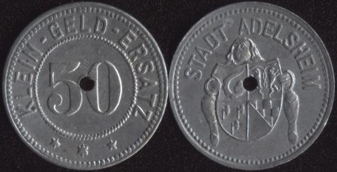 Адельсхайм 50 пфеннигов