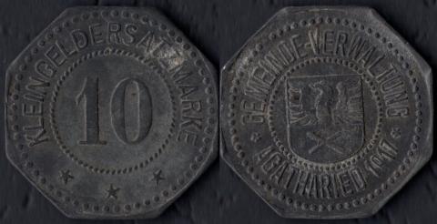 Агатарид 10 пфеннигов 1917