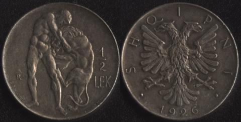 Албания 1/2 лека 1926