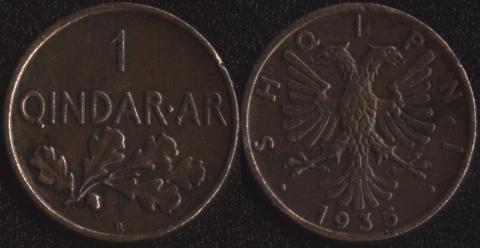 Албания 1 киндар ар 1935