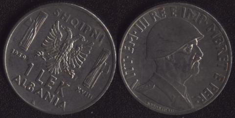 Албания 1 лек 1939