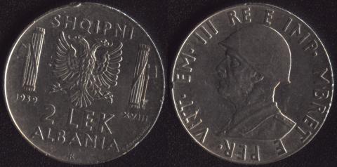 Албания 2 лек 1939