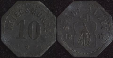 Альцай 10 пфеннигов 1917