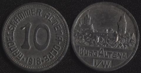 Альтена 10 пфеннигов 1918