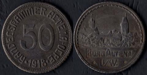 Альтена 50 пфеннигов 1918