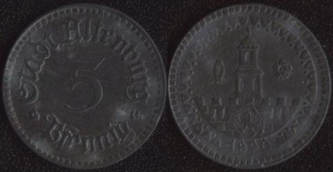 Альтенбург 5 пфеннигов 1920