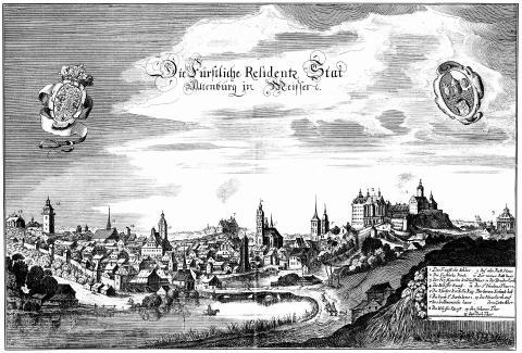 Вид на Город. Гравюра 1650 года.