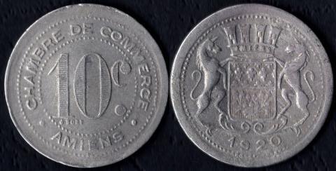 Амьен 10 сантим 1920