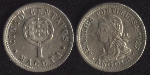 Ангола 1 макута 1927