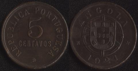 Ангола 5 сентаво 1921