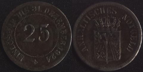 Анхальт 25 пфеннигов 1924