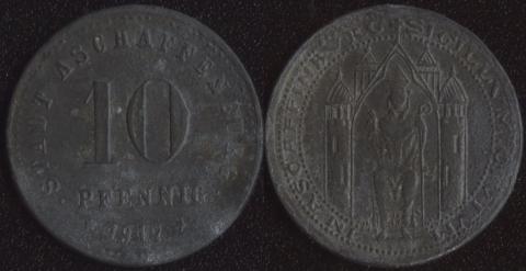 Ашаффенбург 10 пфеннигов 1917 (цинк)