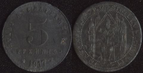 Ашаффенбург 5 пфеннигов 1917