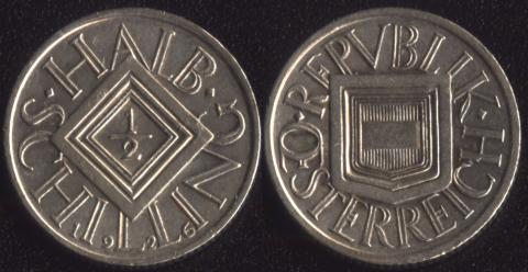 Австрия 1/2 шиллинга 1926