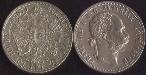 Австрия 1 флорин 1879