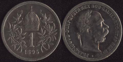 Австрия 1 корона 1895