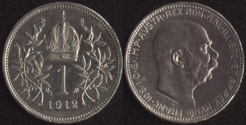 Австрия 1 корона 1912