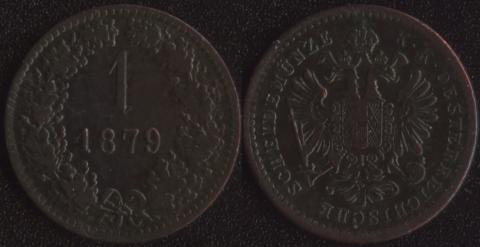 Австрия 1 крейцер 1879