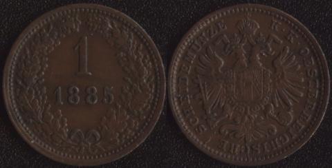 Австрия 1 крейцер 1885