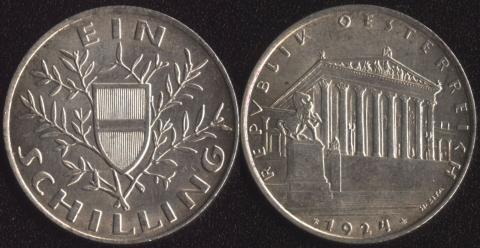 Австрия 1 шиллинг 1924