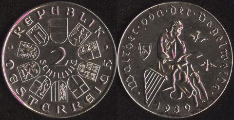 Австрия 2 шиллинга 1930 Фогельвейде