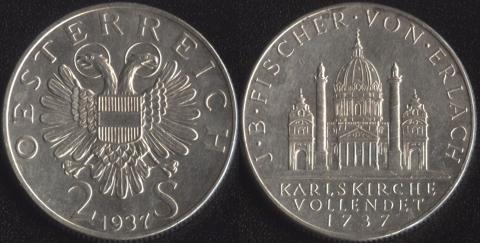 Австрия 2 шиллинга 1937