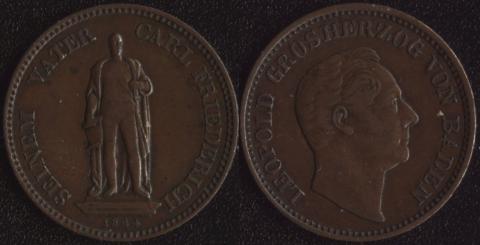 Баден 1 крейцер 1844