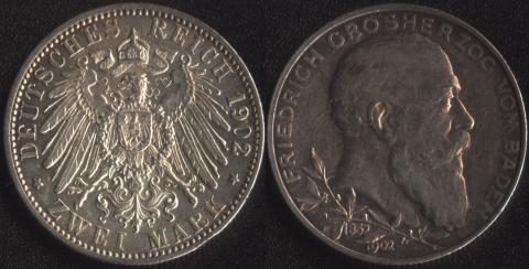Баден 2 марки 1902