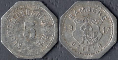 Бамберг 5 пфеннигов 1917