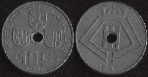 Бельгия 10 сантим 1944 фламандский