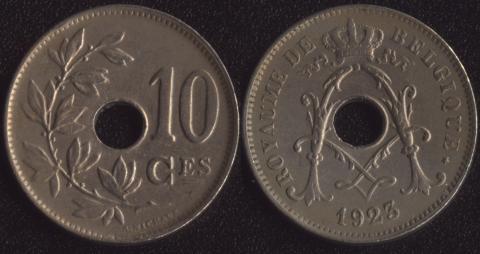 Бельгия 10 сантим 1923 французский