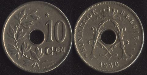 Бельгия 10 сантим 1930 фламандский