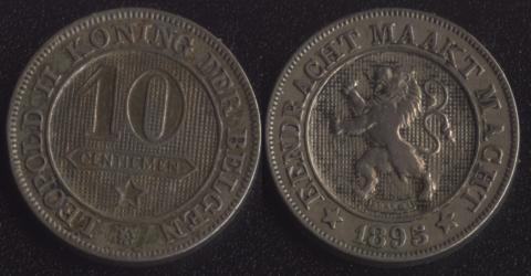 Бельгия 10 сантим 1895 фламандский
